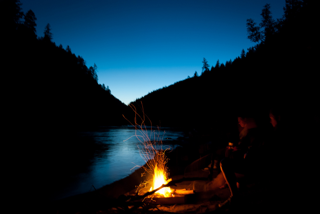 Campfire on Rogue River